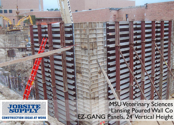 Ez Gang Concrete Forming Systems For Straight Wall